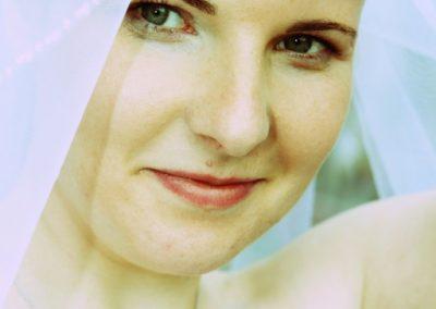 Braut mit Schleier aus Mecklenburg-Vorpommern © Christof Plautz