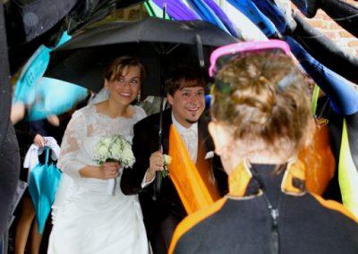 Hochzeitsspalier vor der Klosterkirche in Uetersen von Christof Plautz / Hochzeitsfotograf