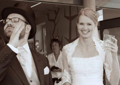 Hochzeitsfoto / Paaraufnahme in Husum © Christof Plautz