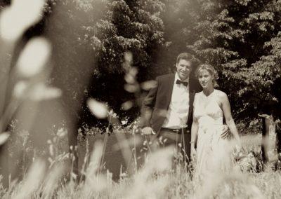 Romantische schwarz / weiß Hochzeitsfotografie bei Kiel vom Hochzeitsfotografen Christof Plautz