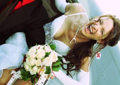 Schrille Hochzeitsfotos in Heist © Christof Plautz
