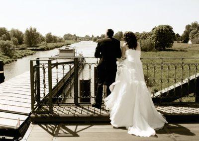 Hochzeitsfoto in Neuendeich / Klevendeich Brautpaarfotograf Christof Plautz