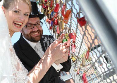 Kreative Hochzeits-Fotografie outdoor © Christof Plautz